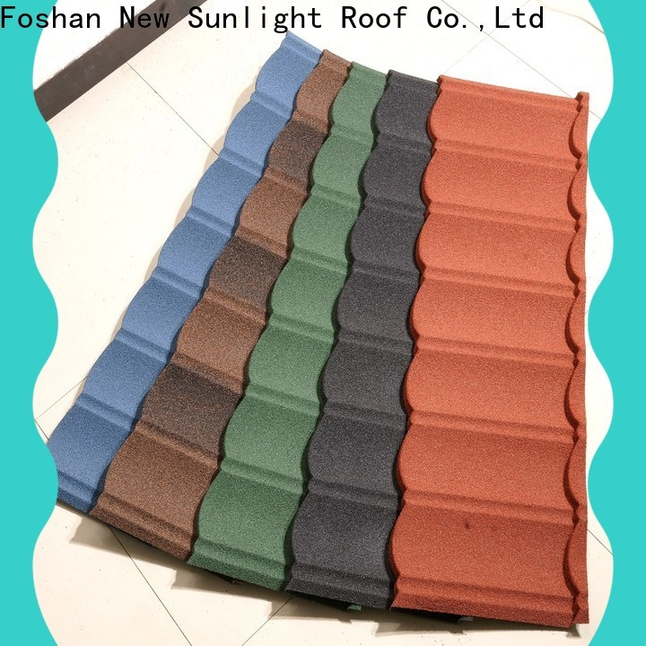New Sunlight Roof stone residential metal roofing supply for garden construction