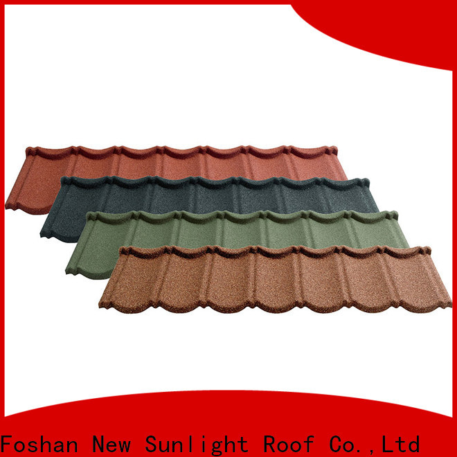 New Sunlight Roof tile residential metal roofing manufacturers for industrial workshop