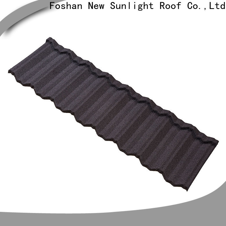 New Sunlight Roof coated stone coated steel roof company for Villa