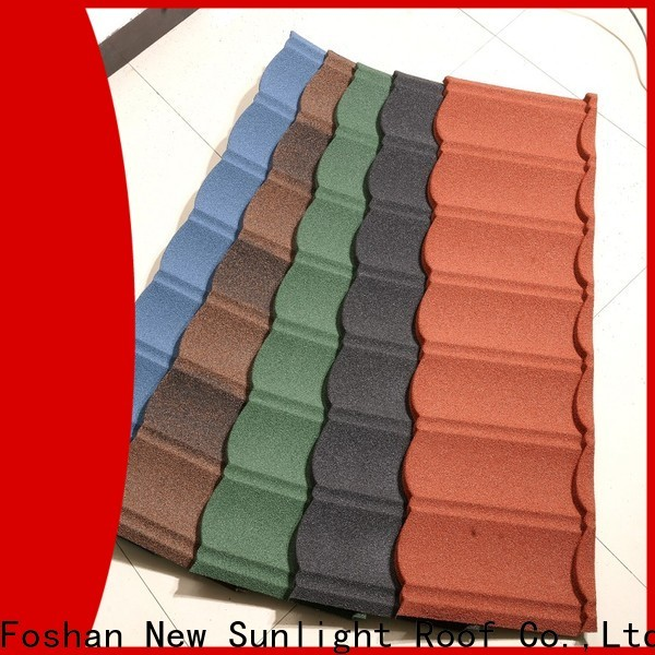 New Sunlight Roof metal stone coated metal roof tile company for warehouse market