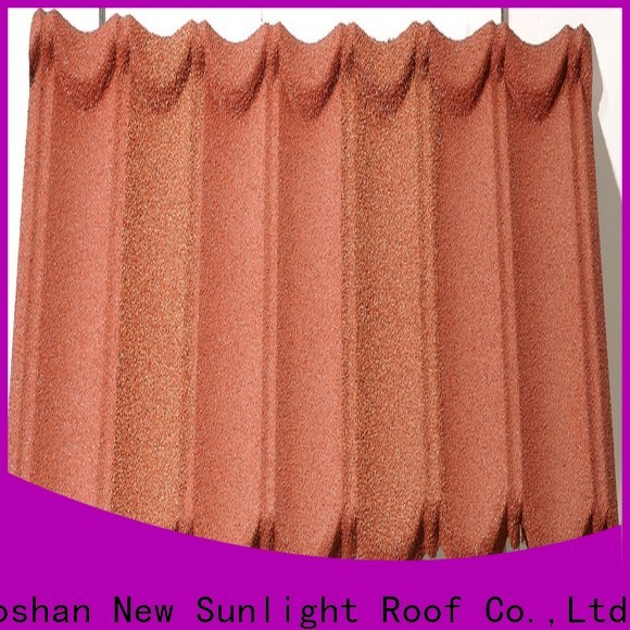 New Sunlight Roof colorful metal roof tiles supply for warehouse market