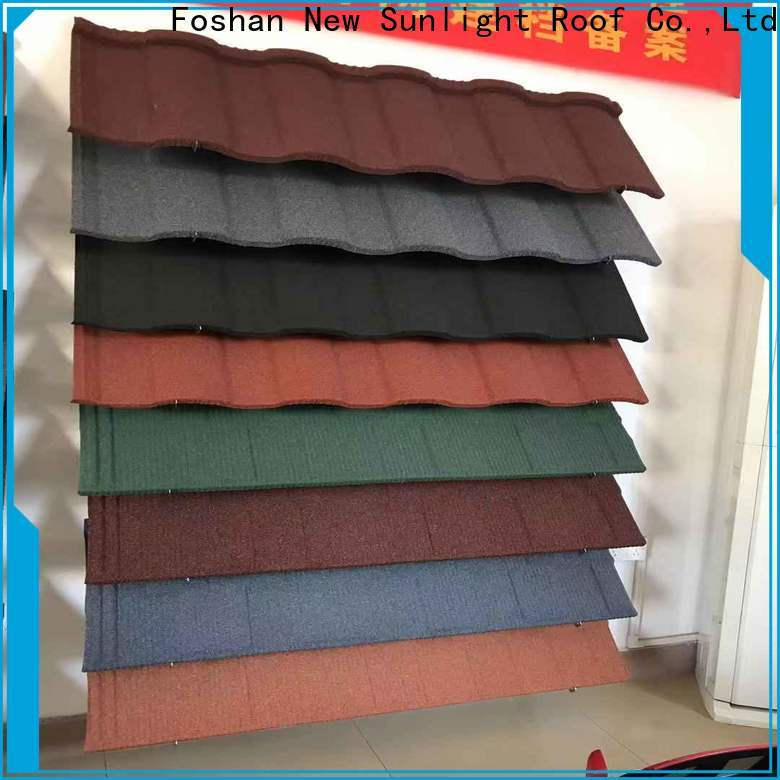 New Sunlight Roof colorful stone coated metal shingles for business for greenhouse cultivation