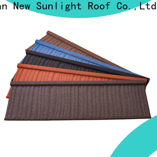 New Sunlight Roof shake stone coated metal roof tile company for Hotel