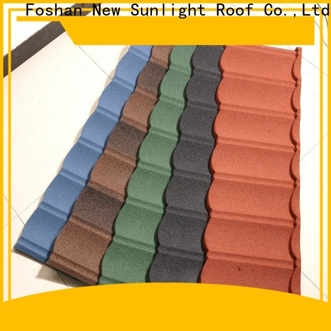 New Sunlight Roof wholesale stone coated steel shingles factory for garden construction