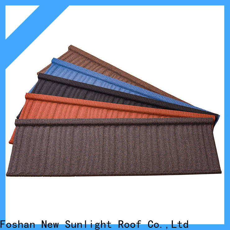 New Sunlight Roof latest colorful stone coated metal roofing tiles company for Hotel