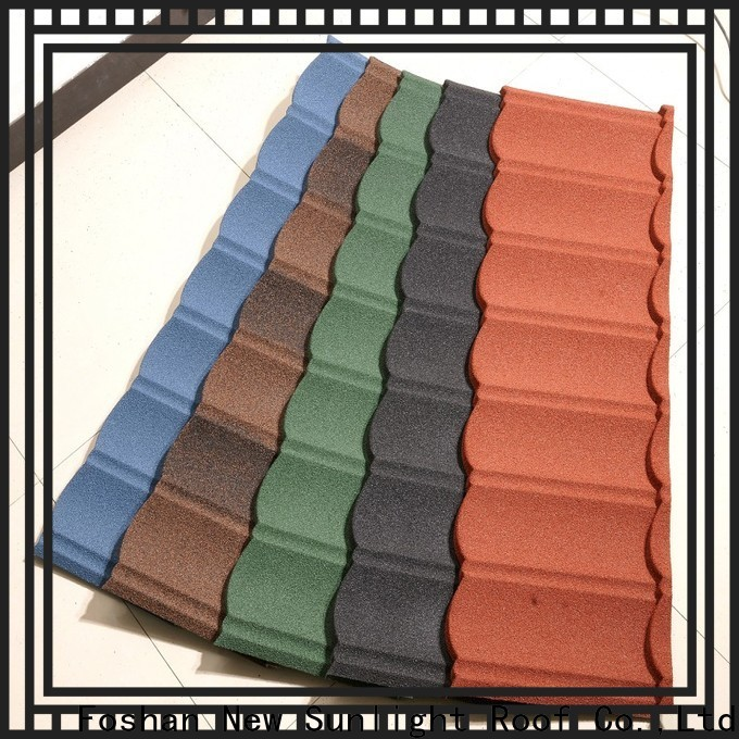 New Sunlight Roof roofing steel shake roofing factory for garden construction