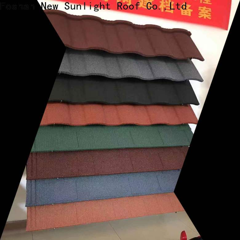 New Sunlight Roof high-quality stone coated steel roofing cost manufacturers for industrial workshop