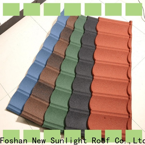 New Sunlight Roof stone coated steel shingles supply for School