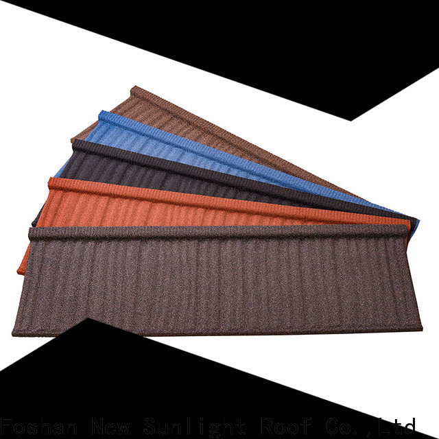 latest stone coated metal roof tile stone manufacturers for Villa
