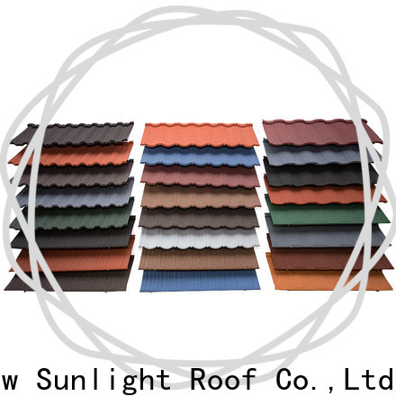 New Sunlight Roof lightweight metal roof tile suppliers for Hotel