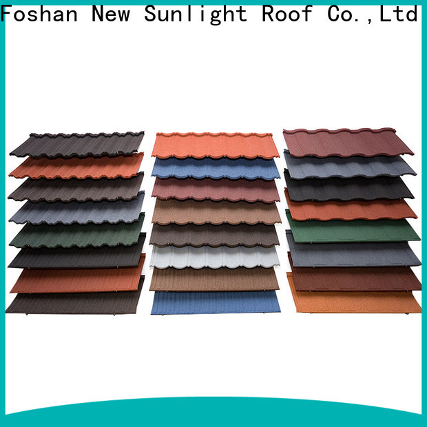 New Sunlight Roof stone tile roofing materials manufacturers for Office