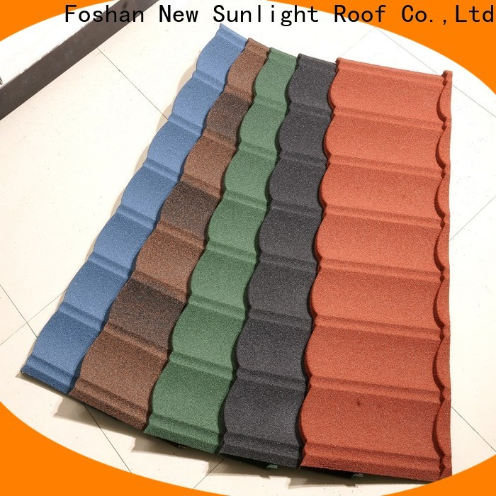new stone coated shingles tile suppliers for industrial workshop