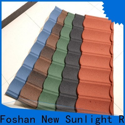 latest stone coated steel roofing tile company for warehouse market