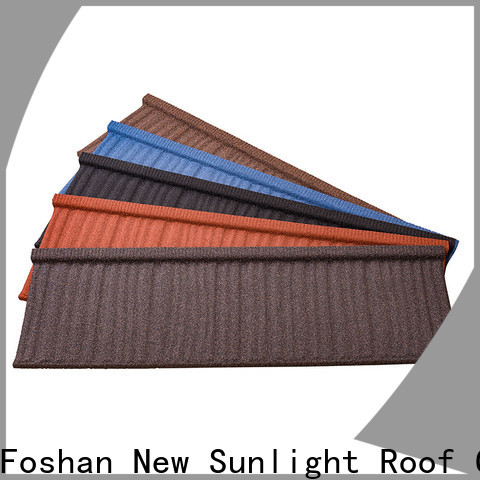 New Sunlight Roof wood colorful stone coated metal roofing tiles manufacturers for Building Sports Venues
