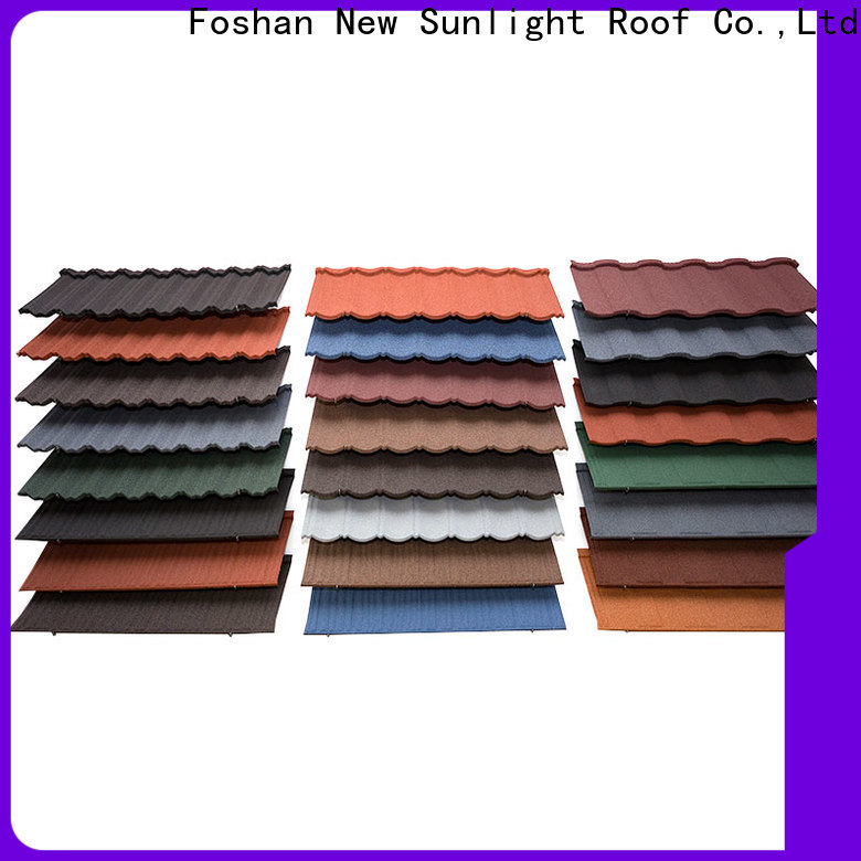 New Sunlight Roof stone metal tiles roof manufacturers for Office