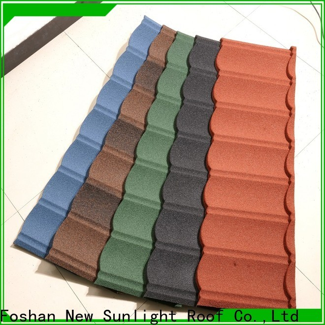 New Sunlight Roof latest stone coated steel shingles suppliers for industrial workshop