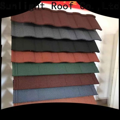 New Sunlight Roof custom stone coated steel roofing manufacturers supply for greenhouse cultivation