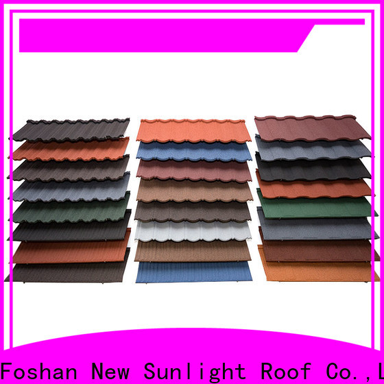 New Sunlight Roof coated stone coated roofing tiles china for business for Villa