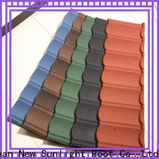New Sunlight Roof stone shingle style metal roof manufacturers for garden construction