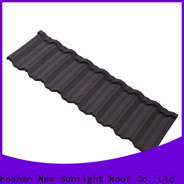 New Sunlight Roof metal stone coated metal roof tiles for business for Building Sports Venues