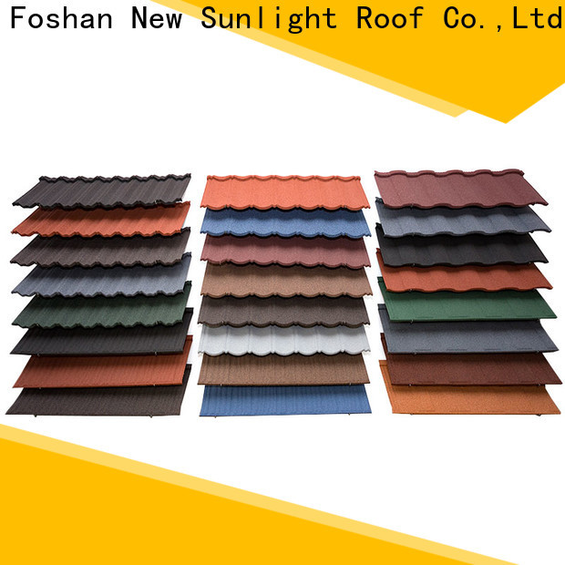 New Sunlight Roof high-quality metal tile roof shingles suppliers for Hotel