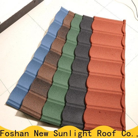 New Sunlight Roof tile stone coated steel roofing manufacturers suppliers for greenhouse cultivation