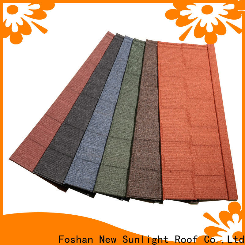 New Sunlight Roof coated china roofing tiles company for Hotel