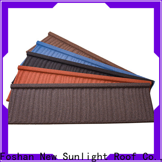 high-quality stone coated metal roofing tiles colorful for Office