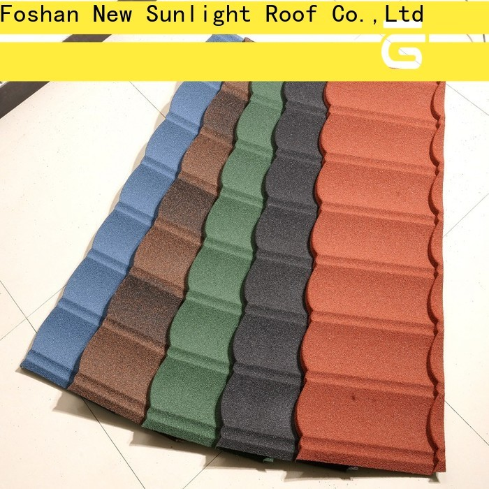 New Sunlight Roof roofing metal roof shingles manufacturers supply for garden construction