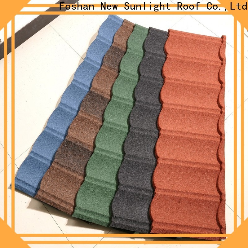New Sunlight Roof metal stone coated metal roofing manufacturers for industrial workshop