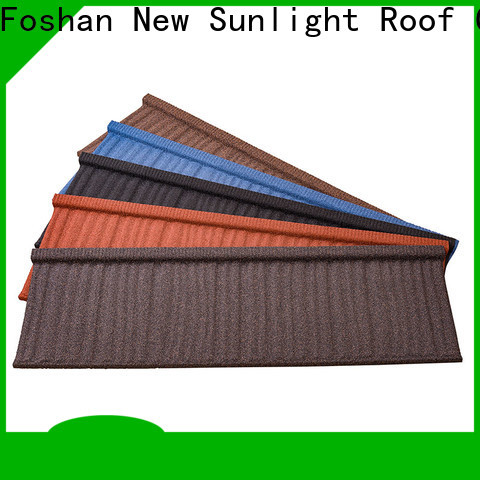 New Sunlight Roof best stone coated metal roof tile manufacturers for School