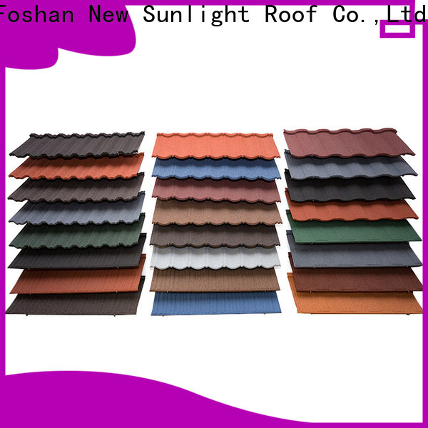 New Sunlight Roof coated tile roofing materials suppliers for Office