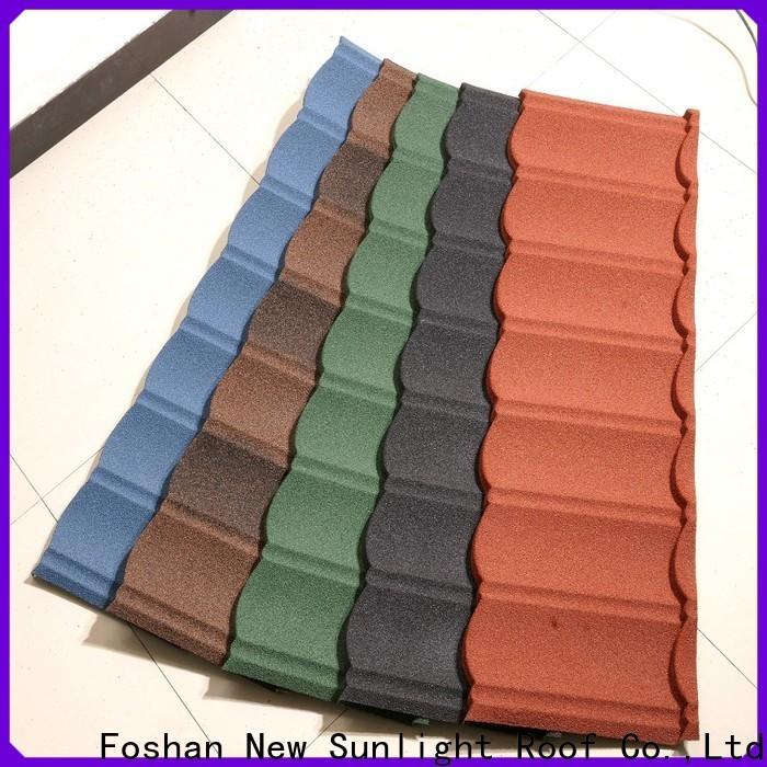 New Sunlight Roof stone coated steel shingles company for Villa