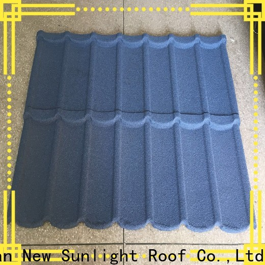 New Sunlight Roof top steel shake shingles manufacturers for garden construction