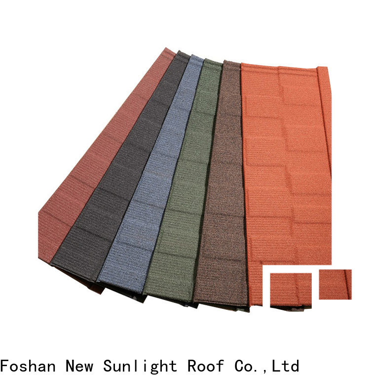New Sunlight Roof stone roofing tiles factory factory for Villa
