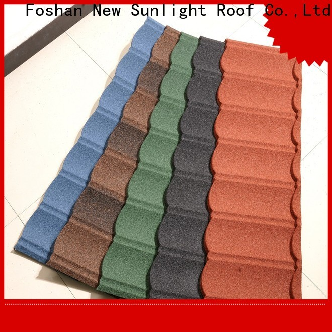 New Sunlight Roof best stone coated steel shingles factory for garden construction