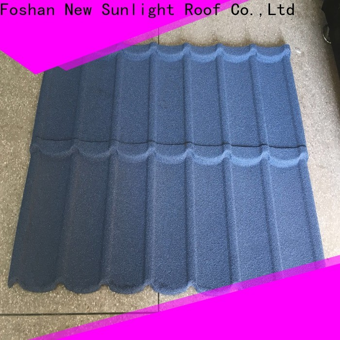 New Sunlight Roof latest stamped metal roofing shingles for business for industrial workshop