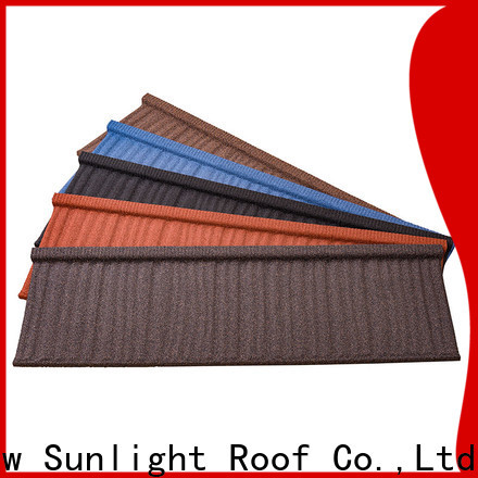 New Sunlight Roof wholesale stone coated aluminum roofing for Hotel