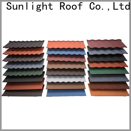 New Sunlight Roof metal rainbow roof tiles suppliers for Hotel