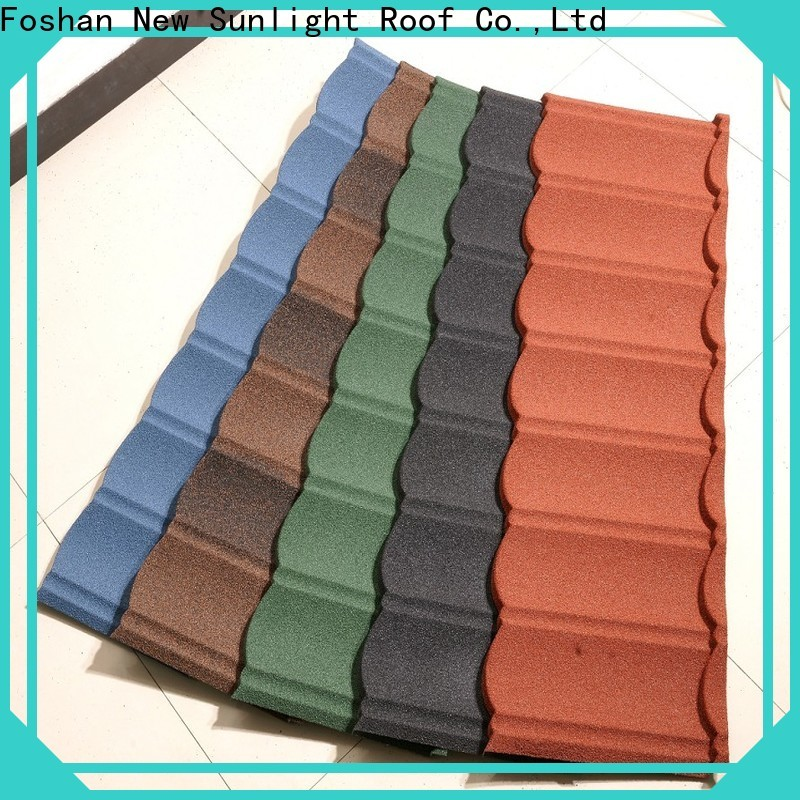 custom sheet metal roofing systems stone factory for industrial workshop