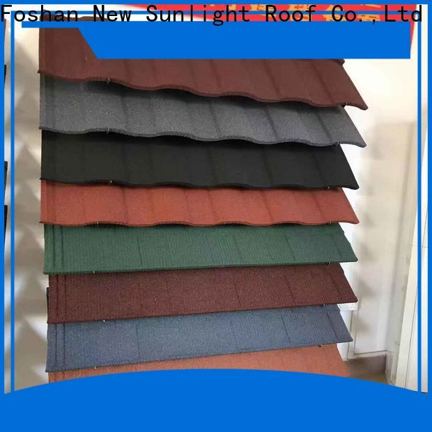 wholesale stone coated steel roofing tile tile company for garden construction