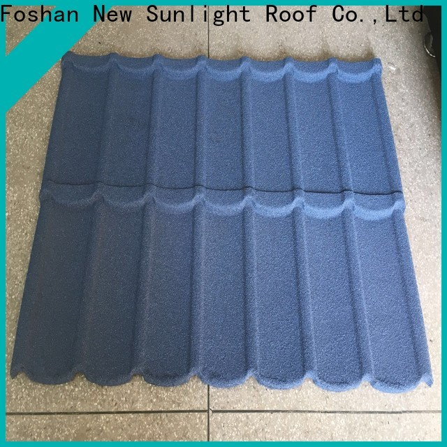 New Sunlight Roof colorful pressed steel roof tiles factory for garden construction