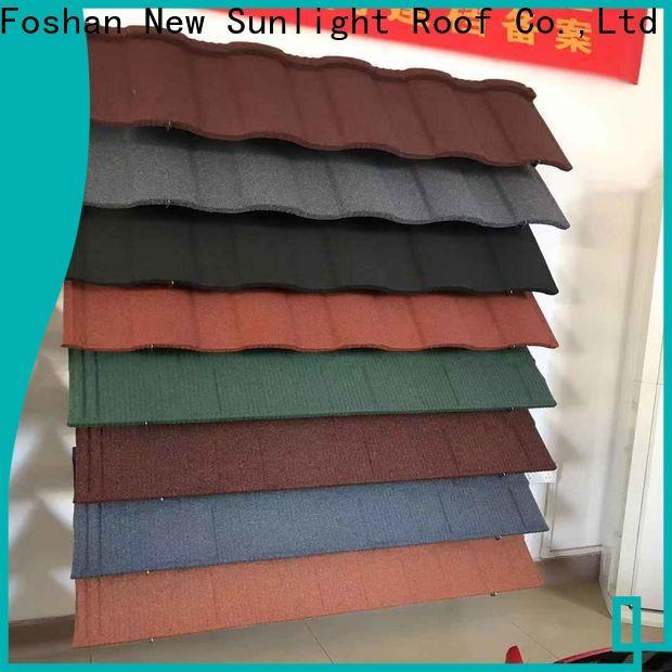 New Sunlight Roof colorful metal asphalt shingles for warehouse market