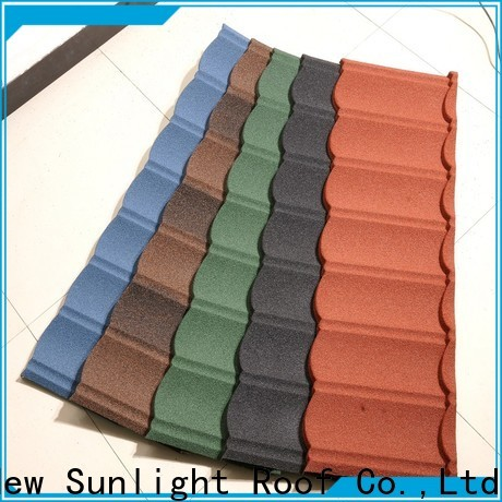 New Sunlight Roof colorful zinc roof tiles for warehouse market