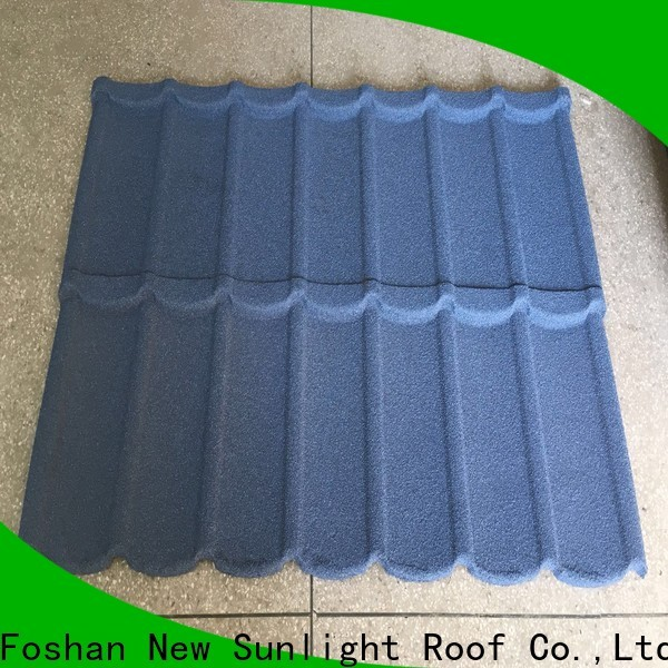 New Sunlight Roof top stone coated steel roofing tile factory for industrial workshop