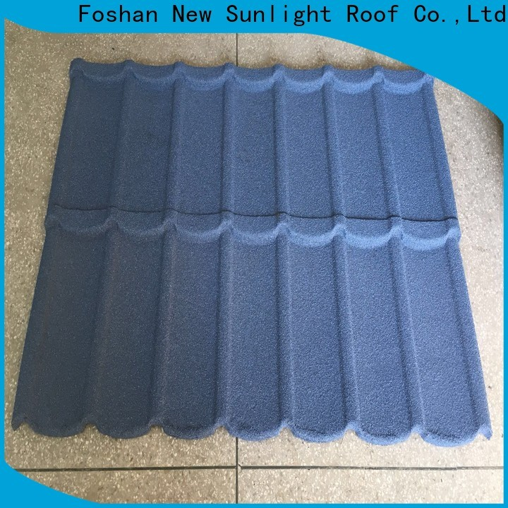 New Sunlight Roof coated metal tile shake roof manufacturers for garden construction