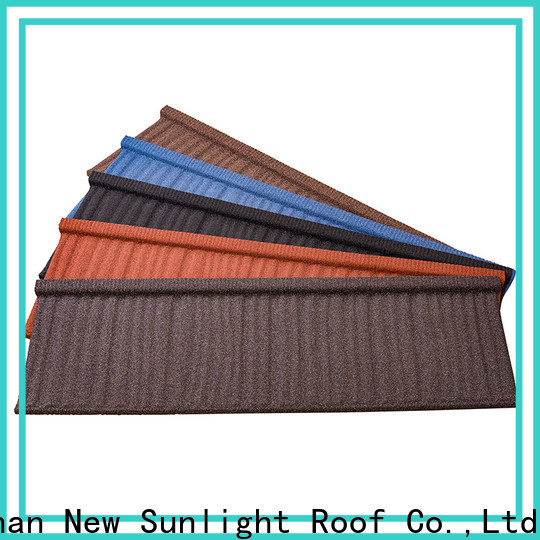 New Sunlight Roof new stone coated metal roofing tiles company for Hotel