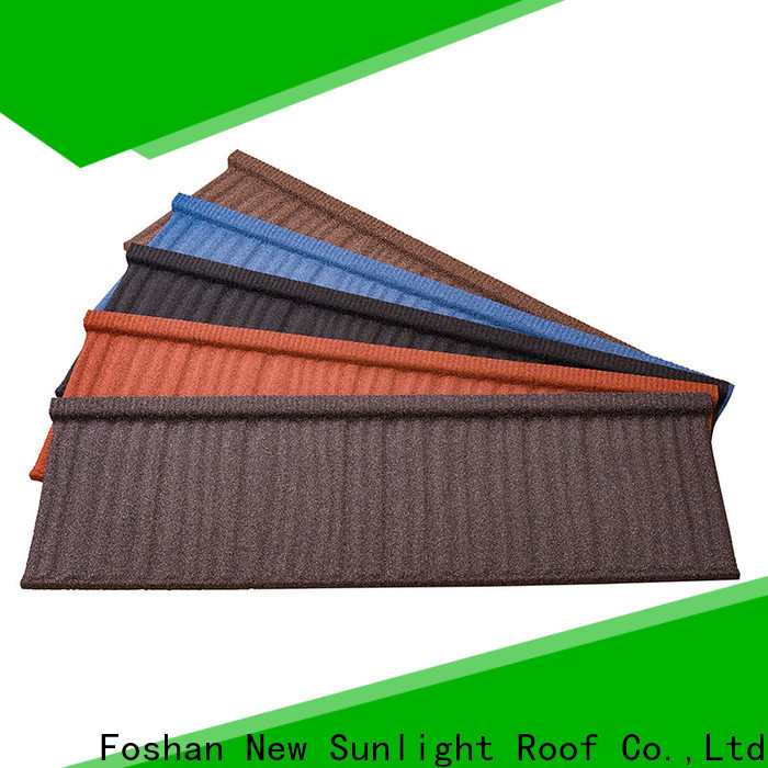 New Sunlight Roof top stone coated aluminum roofing for School