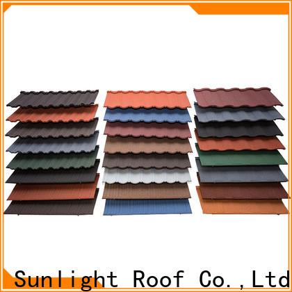 New Sunlight Roof custom stone coated metal shingles supply for Office