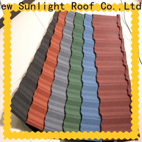 New Sunlight Roof classic stone coated steel roof suppliers for Hotel